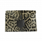 YSL Animal Print Pony Hair Envelope Clutch